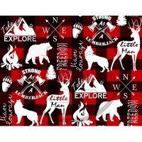 Jersey / Design Stéphanye Boileau  / Ours / Loups / Chevreuil / Buck Plaid / carreauté rouge