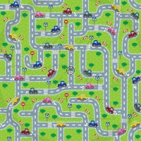 Selection Isa tissus Qc / Tapis d'auto vert/gris, route, voiture