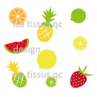 Design isa tissus Qc / Explosion de fruits