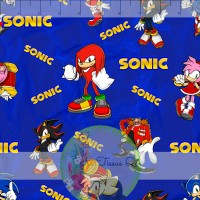 Licence / Sonic, personnages, fond bleu