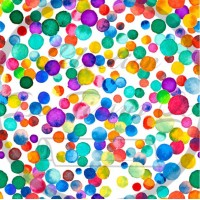 Selection Isa tissus Qc / Confetti watercolor