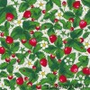 Design Julie Carpentier / Fraises fond blanc