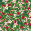 Design Julie Carpentier / Fraises fond rose