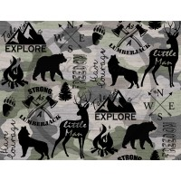 Jersey / Design Stéphanye Boileau  / Montagne/Ours/Loup/Chevreuil/Buck/Camping fond camo